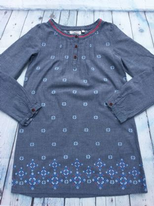 Fatface blue tunic dress age 10-11